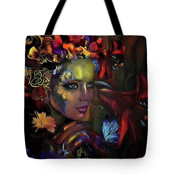 Flower Girl 0078 Tote Bag
