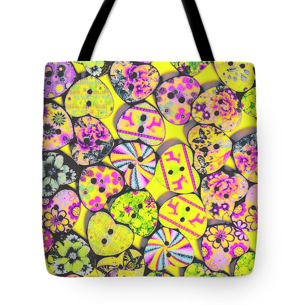 Flower Power Patterns Tote Bag