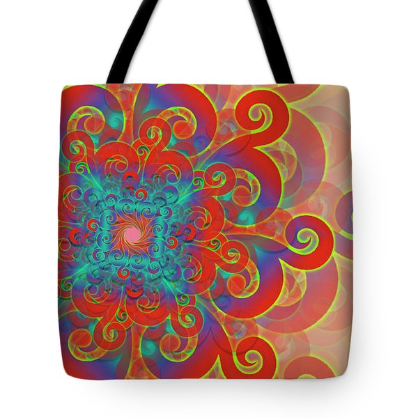 Tote Bag featuring the digital art Flower by Vitaly Mishurovsky