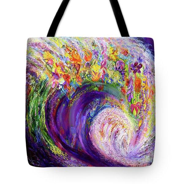 Flower Wave Tote Bag