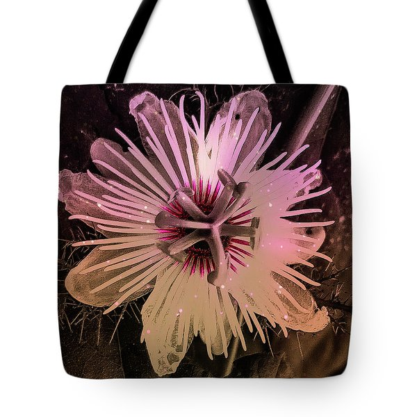 Flower With Tentacles Tote Bag