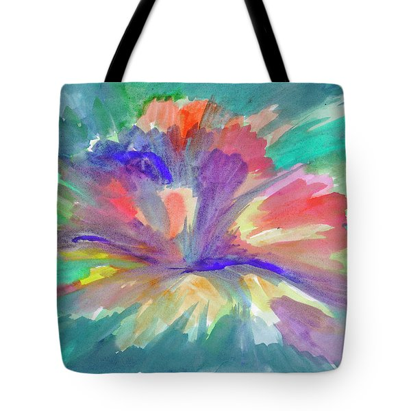 Tote Bag featuring the painting Flowering Abstract 1 by Dobrotsvet Art