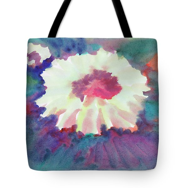 Tote Bag featuring the painting Flowering Abstract 2 by Dobrotsvet Art