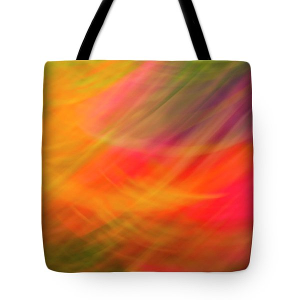 Flowers In Abstract Tote Bag