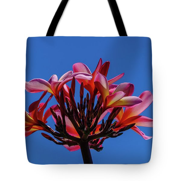 Flowers In Clear Blue Sky Tote Bag