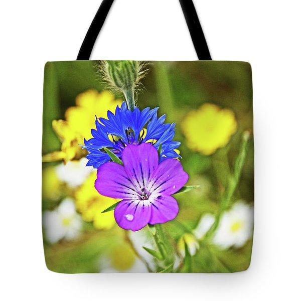 Flowers In The Meadow. Tote Bag