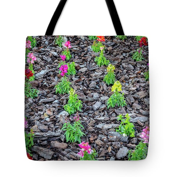 Flowers On The Stones Tote Bag