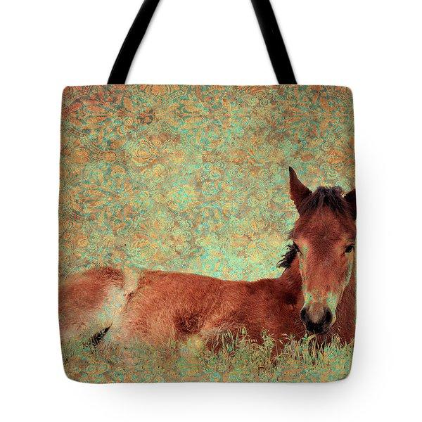 Flowery Foal Tote Bag