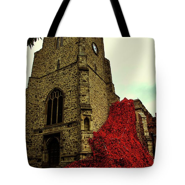 Flowing Poppies Tote Bag