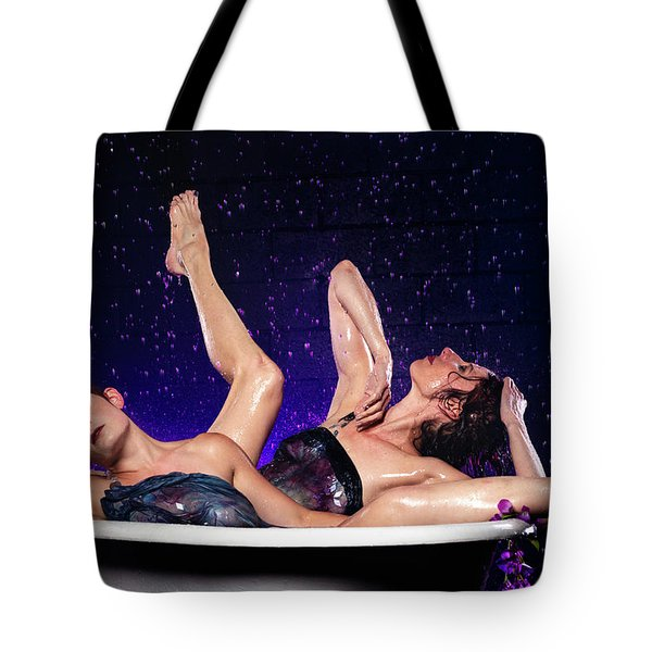Tote Bag featuring the photograph Achelois And Sister Bathing In The Galaxy by Dennis Dame