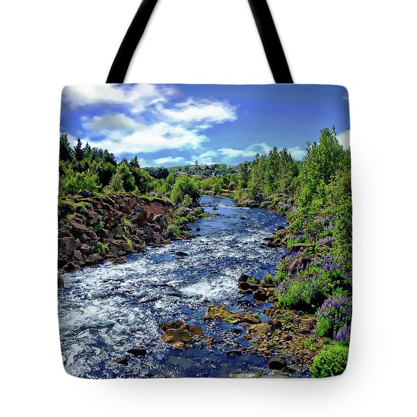 Tote Bag featuring the photograph Flowing Stream by Anthony Dezenzio