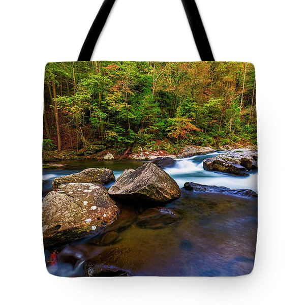 Tote Bag featuring the photograph Flowing Waters by Andy Crawford