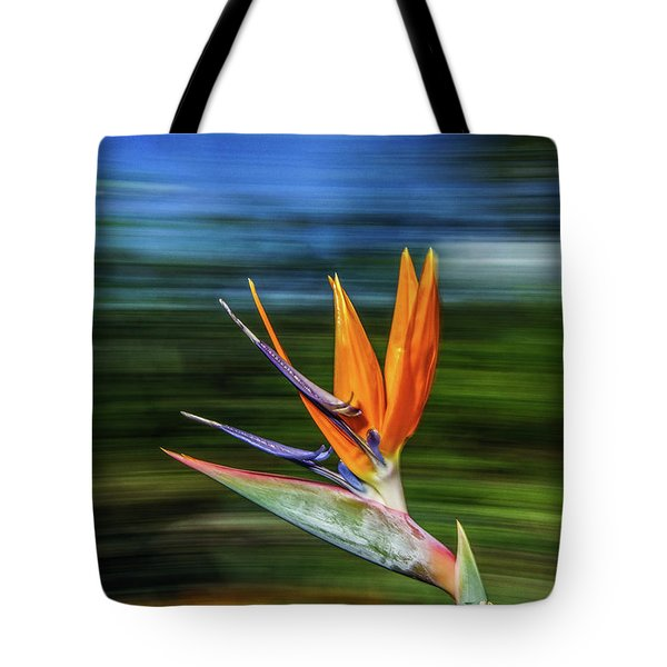 Flying Bird Of Paradise Tote Bag