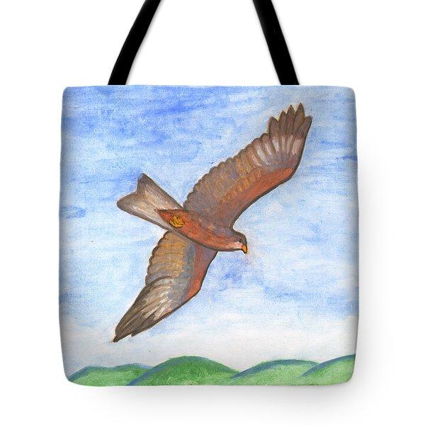 Flying Hawk Tote Bag