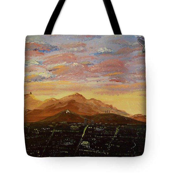 Flying Over Tucson Tote Bag