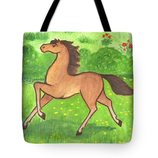 Foal In The Meadow Tote Bag
