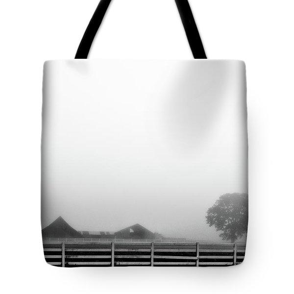 Fog And The Farm Tote Bag