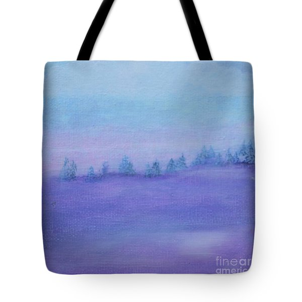 Tote Bag featuring the painting Fog Descending by Kim Nelson