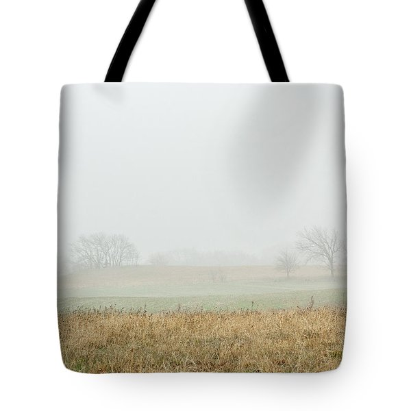 Foggy Country Morning Tote Bag