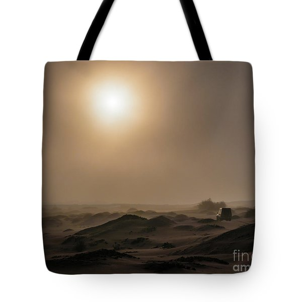 Foggy Morning In The Namib Desert Tote Bag