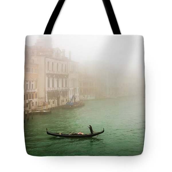 Foggy Morning On The Grand Canale, Venezia, Italy Tote Bag
