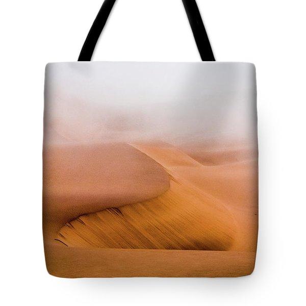 Foggy Namib Desert Tote Bag