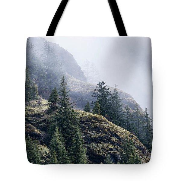 Foggy On Saddle Mountain Tote Bag