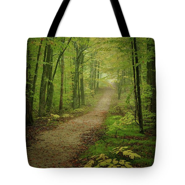 Foggy Path Tote Bag