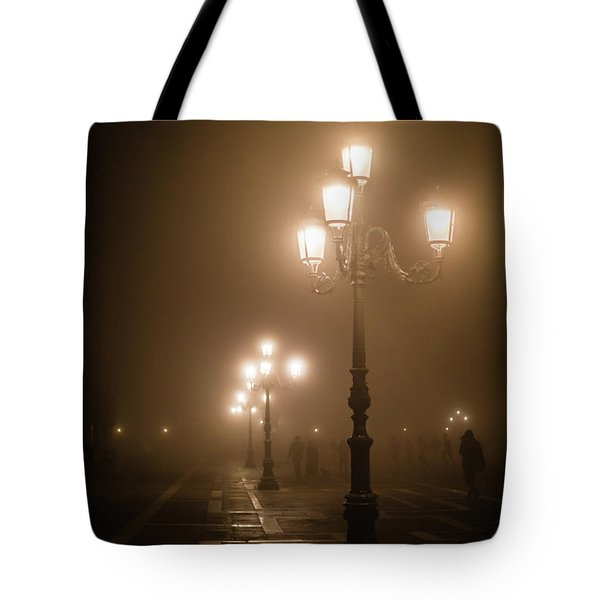 Foggy Piazza San Marco, Venice Tote Bag