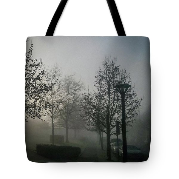 Tote Bag featuring the photograph Foggy Street by Juan Contreras