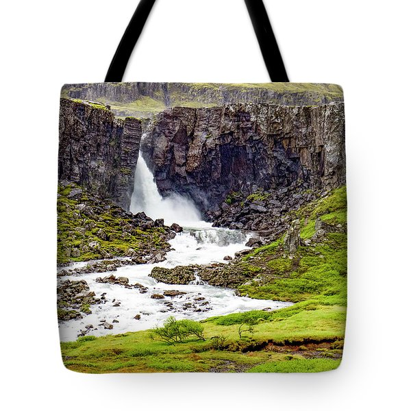 Tote Bag featuring the photograph Folaldafoss by Marla Craven