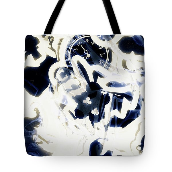 Follow The Blue Rabbit Tote Bag