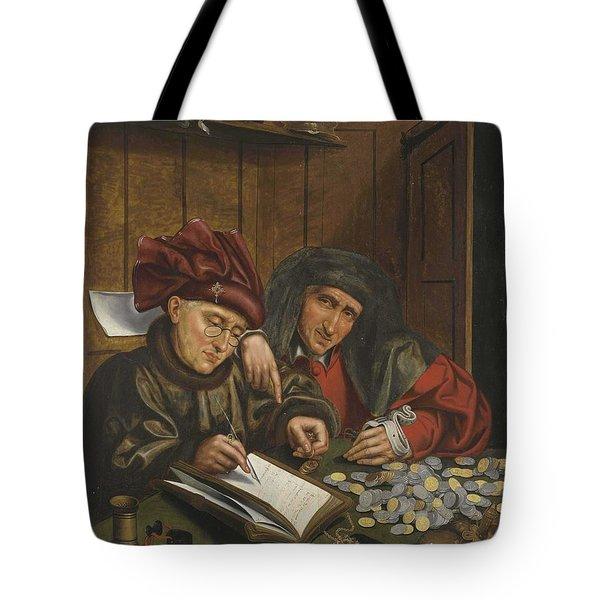 Follower Of Quinten Metsys The Tax Collectors Tote Bag