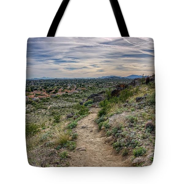 Following The Desert Path Tote Bag
