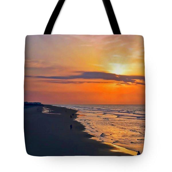 Folly Beach Sunrise Tote Bag
