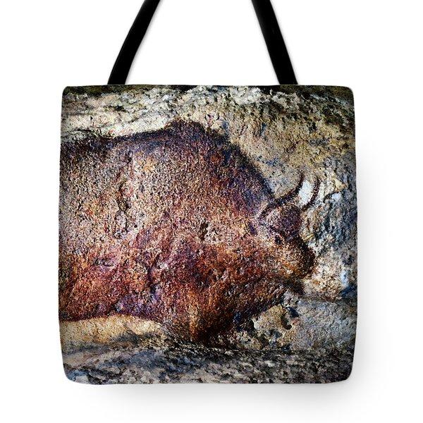 Font De Gaume Bison Tote Bag