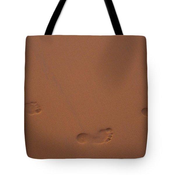 Foot Prints In Sand Tote Bag