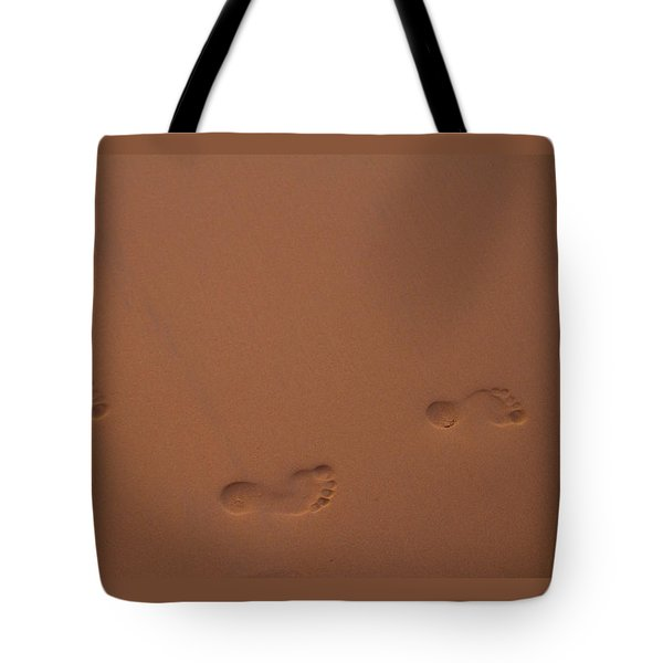 Foot Prints In Sand Tote Bag