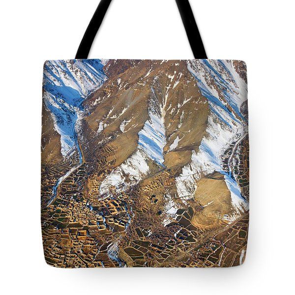 Tote Bag featuring the photograph Foothill Settlements by SR Green