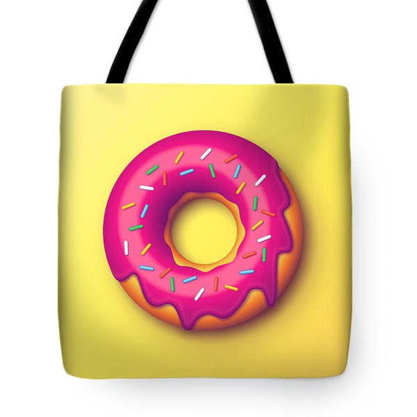 Forbidden Doughnut - Yellow Tote Bag