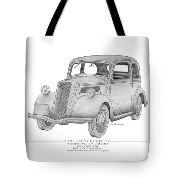 Ford Eight 7y Saloon Tote Bag