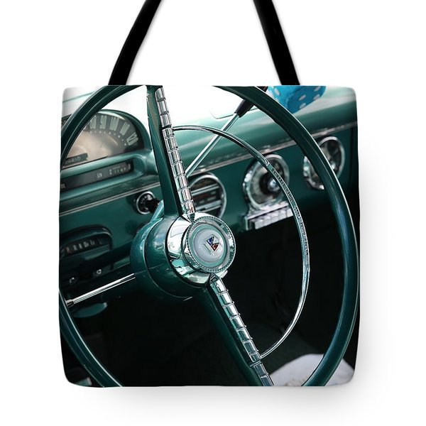 1955 Ford Fairlane Steering Wheel Tote Bag