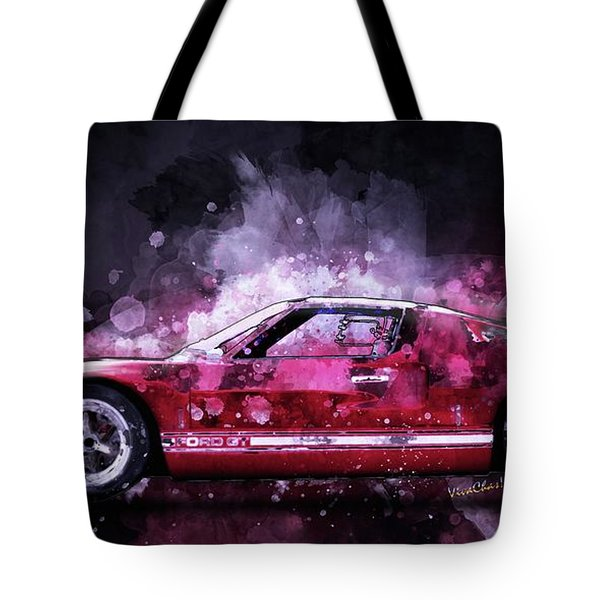 Ford Gt 40 Night Moves Tote Bag