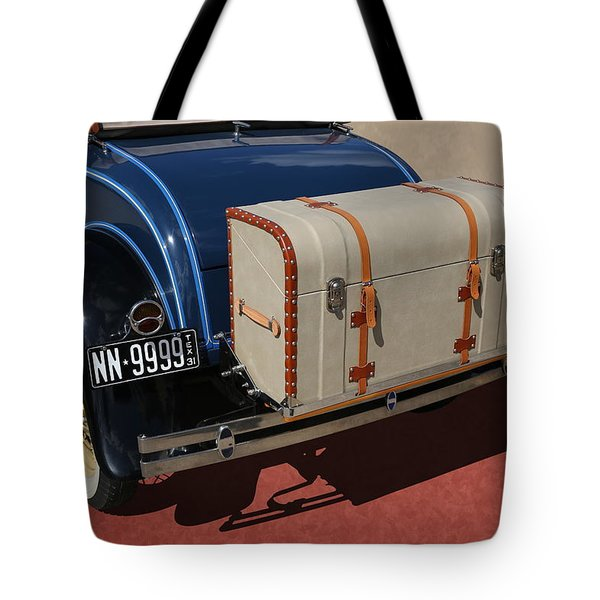 Tote Bag featuring the photograph 1931 Ford Model A Roadster by Debi Dalio