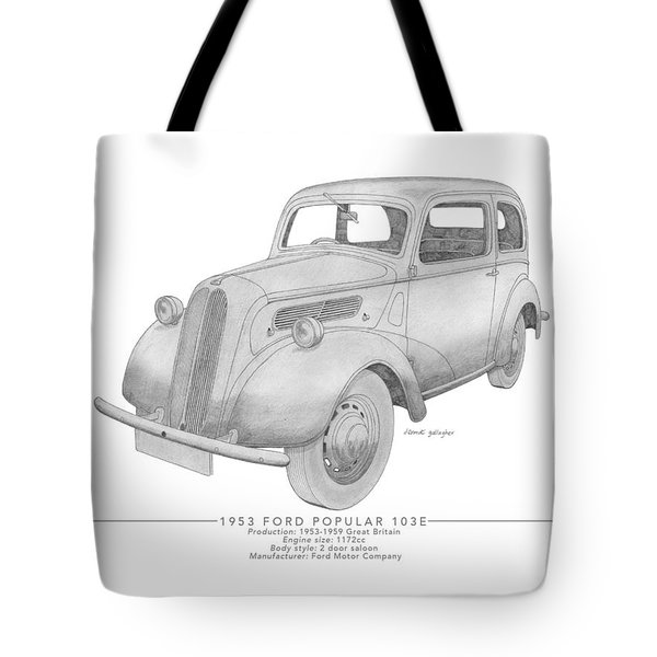 Ford Popular 103e Saloon Tote Bag