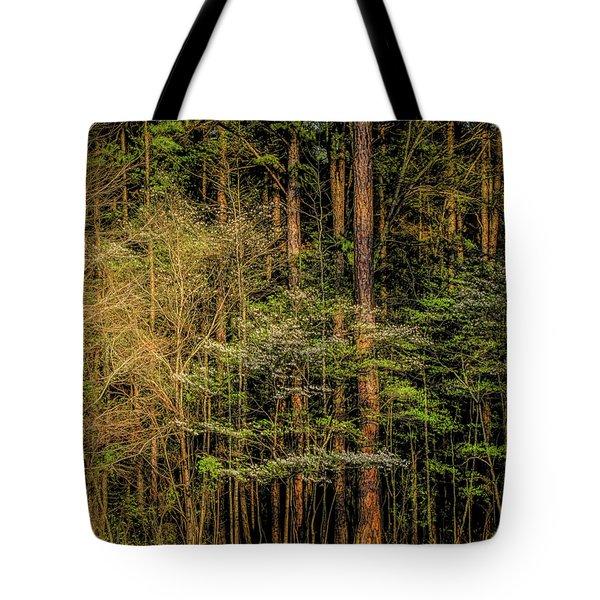 Forest Dogwood Tote Bag