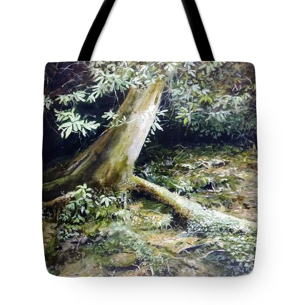 Tote Bag featuring the painting Forest Edge by William Brody