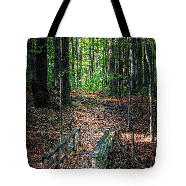 Forest Footbridge Tote Bag