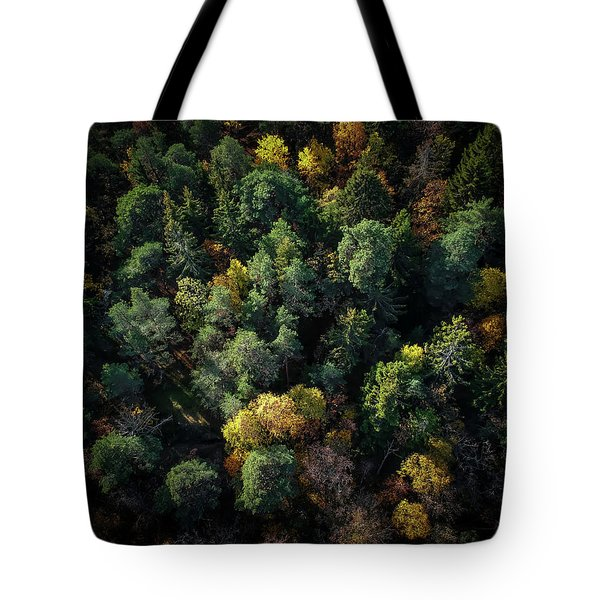 Forest Landscape - Aerial Photography Tote Bag