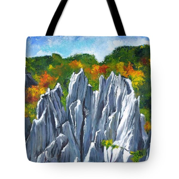 Forest Of Stones Tote Bag